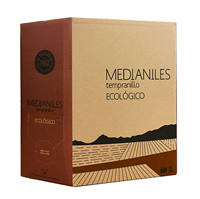 Medianiles Tempranillo Roble Vino Ecologico  3 liter Bag-in-box